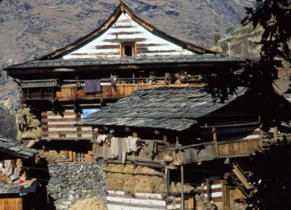 Photo of house in the upper Yamuna Valley