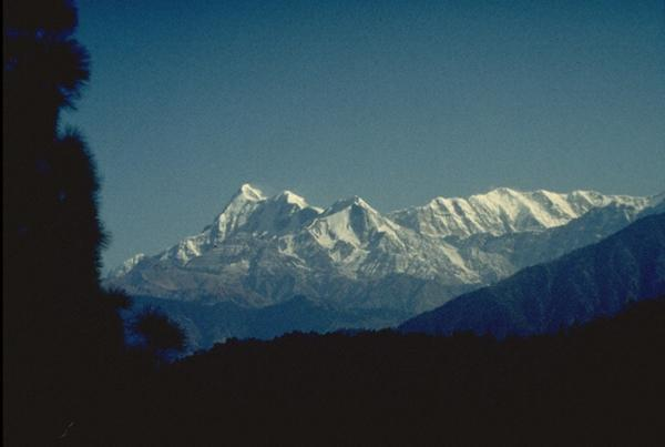 Photo of Nanda Devi, seen from Gwaldam