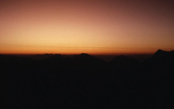 Photo of the view from Pangarchula, just after sunset