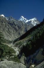 Photo of the Bhagirati river, taken close to its source in the Himalaya