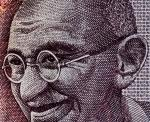 Image of Gandhi on a rupee coin