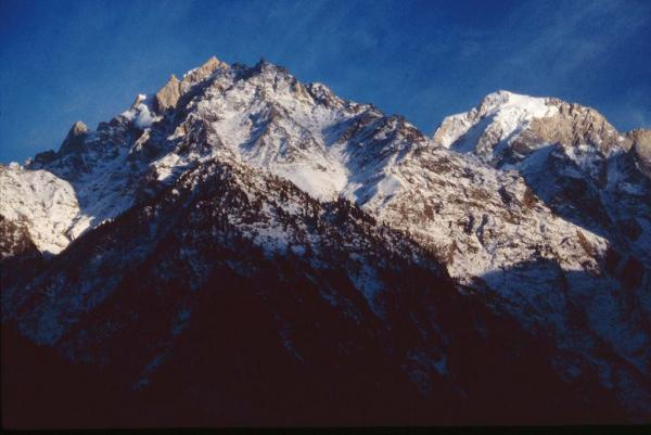 Photo of Kinnaur-Kailash Massif, seen from Rekong Peo