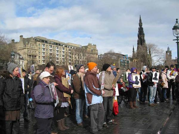 Demo for Tibet, the Mound, Edinburgh