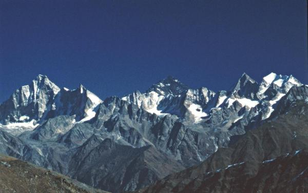 Photo of the Kinnaur mountains, looking northwards across the Baspa Valley