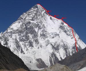K2, showing the Italian route