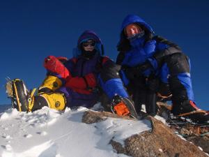 Sandy Allan and Rick Allen on the summit of Nanga Parbat