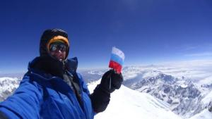 Dennis Urubko on the summit of Kangchenjunga