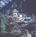 Photo of a village by the Rupin River