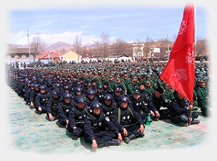 The People's Liberation Army in Ngaba Tibet